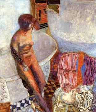 Nude by the Bathtub Artwork by Pierre Bonnard