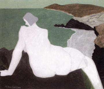 Nude on the Beach Artwork by Milton Avery