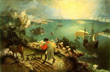 Landscape with the Fall of Icarus Artwork by Pieter Bruegel the Elder