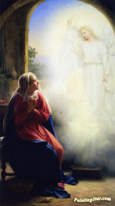The Annunciation Artwork by Carl Heinrich Bloch