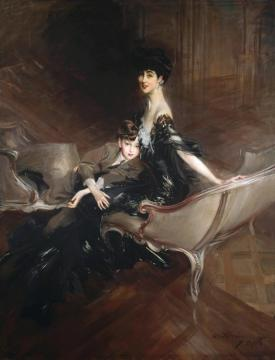 Consuelo, Duchess Of Marlborough, With Her Son Ivor Spencer-churchill Artwork by Giovanni Boldini