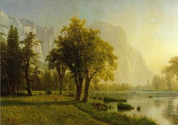 El Capitan, Yosemite Valley Artwork by Albert Bierstadt