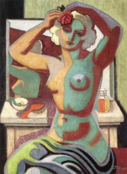 Nude Fixing Her Hair Artwork by Jean Metzinger