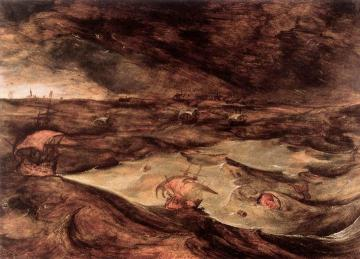 Storm At Sea Artwork by Pieter Bruegel the Elder