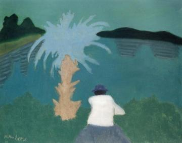 Florida Lake Artwork by Milton Avery