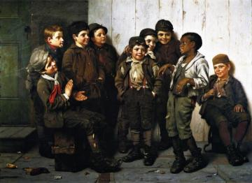 A Jolly Lot Artwork by John George Brown