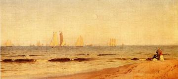 Sandy Hook Artwork by Alfred Thompson Bricher