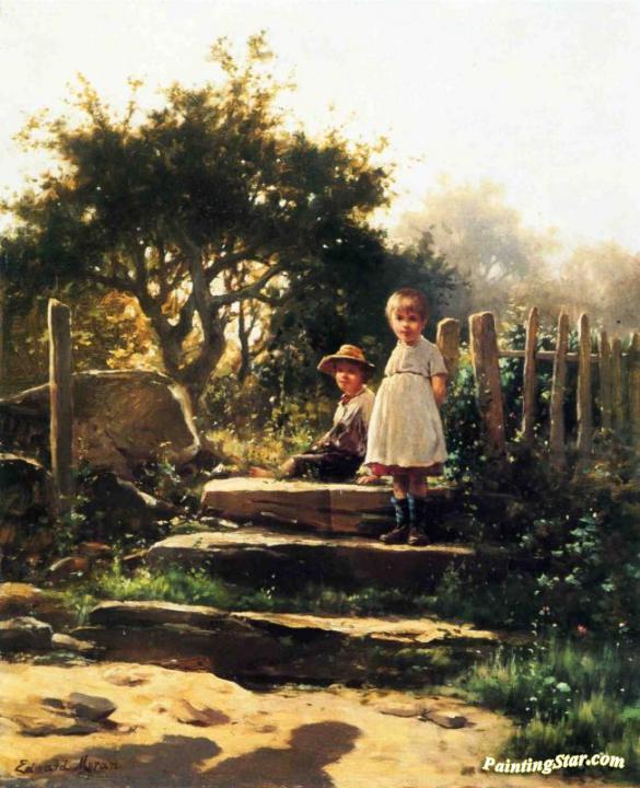 Good Morning Artwork By Edward Moran Oil Painting Art Prints On
