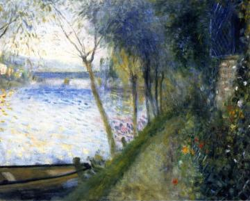 Landscape by the Seine, the Argenteuil Bridge Artwork by Pierre Auguste Renoir