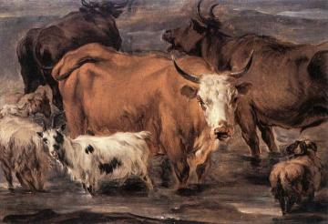 Animal Study(1635-1683) Artwork by Nicolae Berchem