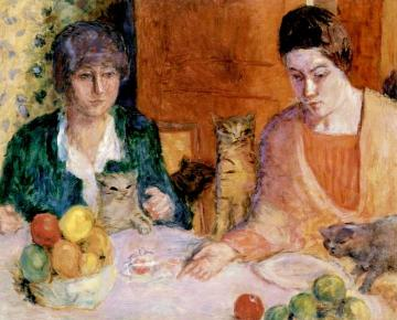 The Cat's Lunch Artwork by Pierre Bonnard