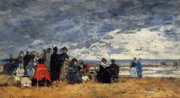 Beach Scene Artwork by Eugène-Louis Boudin