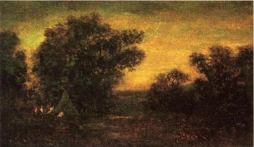 Landscape with Indian Encampment Artwork by Ralph Albert Blakelock