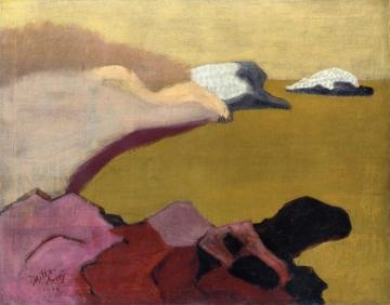 Rocks And Sea Artwork by Milton Avery