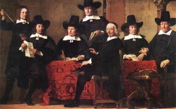 Governors of the Wine Merchant's Guild Artwork by Ferdinand Bol
