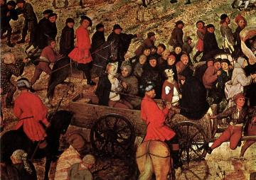 The Procession to Calvary [detail] Artwork by Pieter Bruegel the Elder
