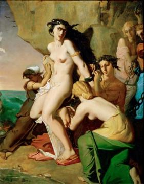 Andromeda And The Nereids Artwork by Theodore Chasseriau