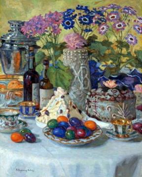 Easter Table Artwork by Nikolai Petrovich Bogdanov-belsky