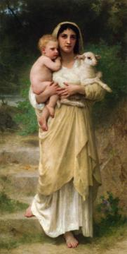 Lambs Artwork by William Adolphe Bouguereau