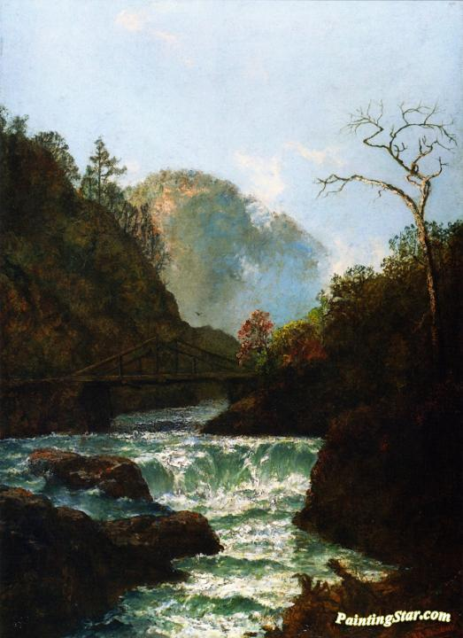 Pawpack Falls, Hawley, Pennsylvania Artwork by Ralph Albert Blakelock