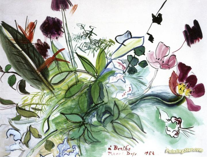 Rustic Bouquet Artwork By Raoul Dufy