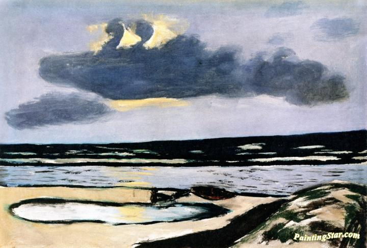 Seashore Artwork by Max Beckmann