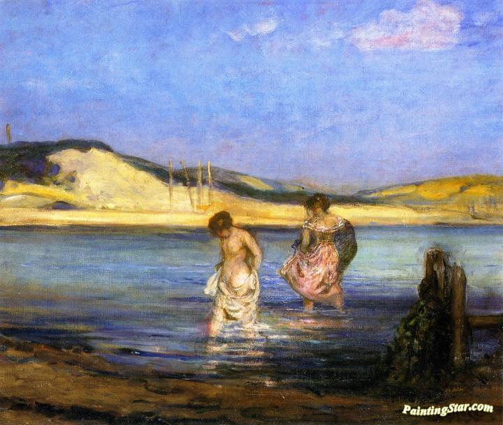 Women Bathing, Swanage Artwork by Charles Conder