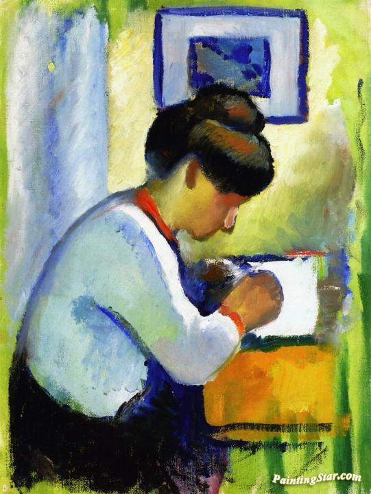 Mother and Child by August Macke Giclee Fine Art Print Reproduction on Canvas