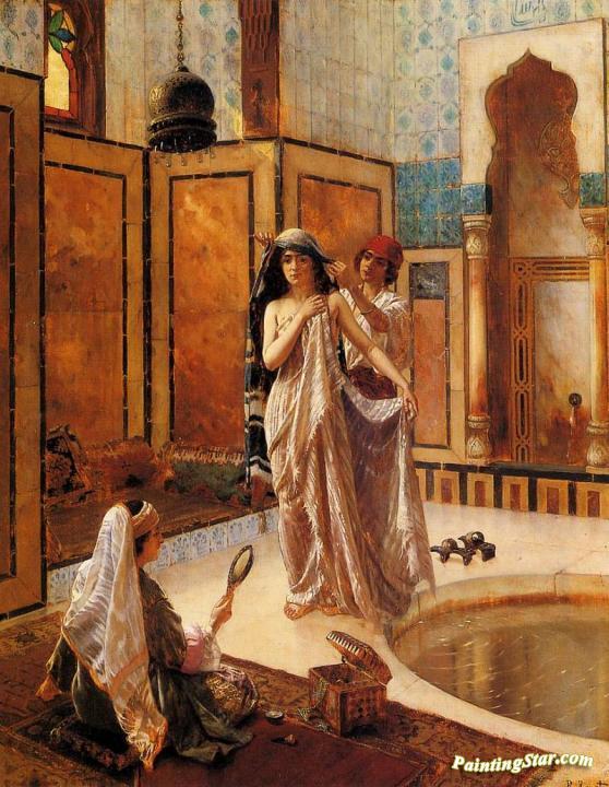 The Harem Bath Artwork By Rudolf Ernst Oil Painting Art Prints On Canvas For Sale Paintingstar Com Art Online Store