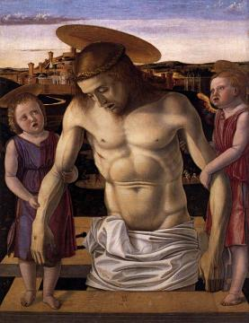 Dead Christ Supported by Two Angels (Pieta) Artwork by Giovanni Bellini