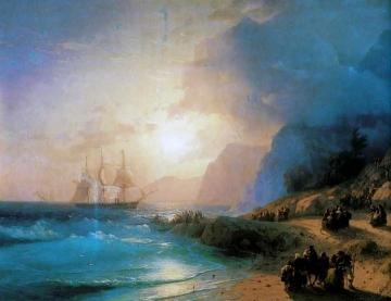 On the Island of Crete. Artwork by Ivan Constantinovich Aivazovsky