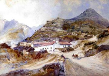 Angangueo, Mexico Artwork by Thomas Moran