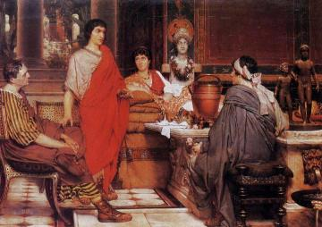 Catullus at Lesbia's Artwork by Sir Lawrence Alma-Tadema