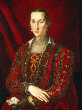 Portrait Of Eleanora Di Toledo Artwork by Agnolo Bronzino