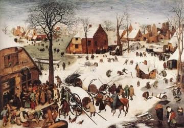 The Numbering at Bethlehem Artwork by Pieter Bruegel the Elder