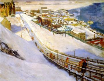 Toboggan Slide and Dufferin Terrace Artwork by Alson Skinner Clark