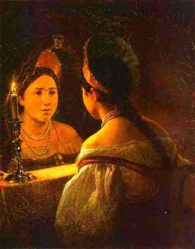 Svetlana Guessing on Her Future Artwork by Karl Pavlovich Bryullov