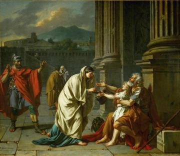 Belisarius Receiving Alms Artwork by Jacques Louis David