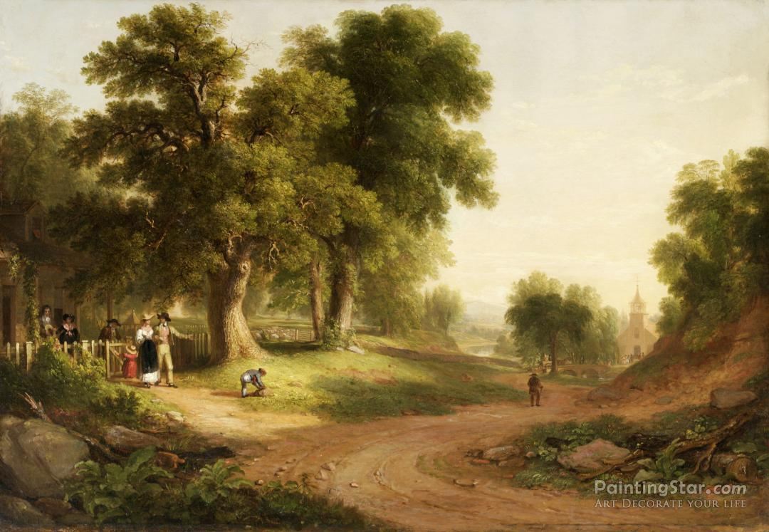 Sunday Morning Artwork By Asher B Durand Oil Painting