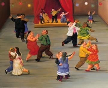 Dancing Artwork by Fernando Botero