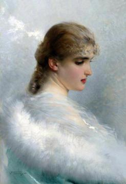 Portrait of a Young Beauty Artwork by Vittorio Matteo Corcos