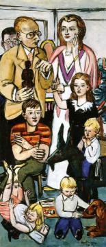 Family Portrait Henry R. Hope Artwork by Max Beckmann