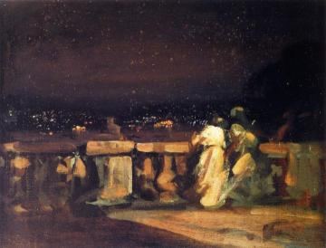 Watching the Fireworks, St. Cloud Artwork by Charles Conder