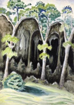 In The Deep Woods Artwork by Charles Burchfield