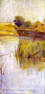 Landscape With River And Boat Artwork by Charles Conder