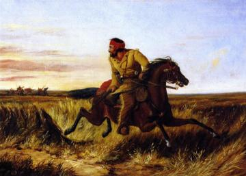 The Prairie Hunter: One Rubbed Our Artwork by Arthur Fitzwilliam Tait