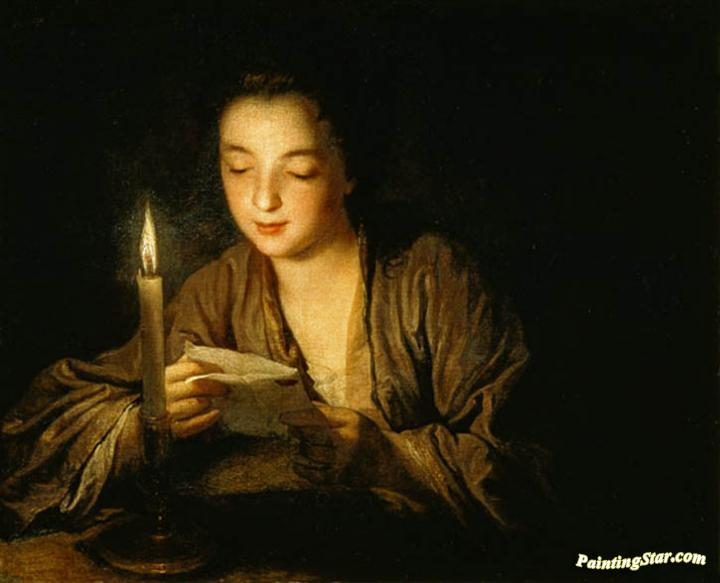 Image result for lady reading letter painting