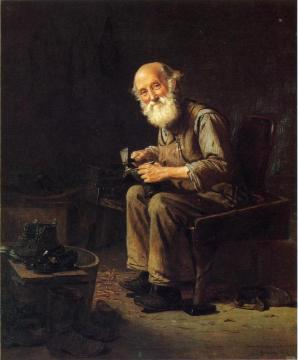 The Village Cobbler Artwork by John George Brown