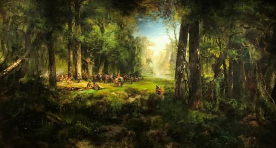 Ponce de Leon in Florida Artwork by Thomas Moran