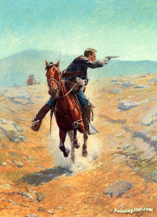In Safe Hands  by Charles Schreyvogel    Giclee Canvas Print Repro